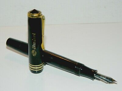 VINTAGE BLACK FOUNTAIN PEN KURZ STANDARD MADE IN GERMANY 1930's VERY RARE