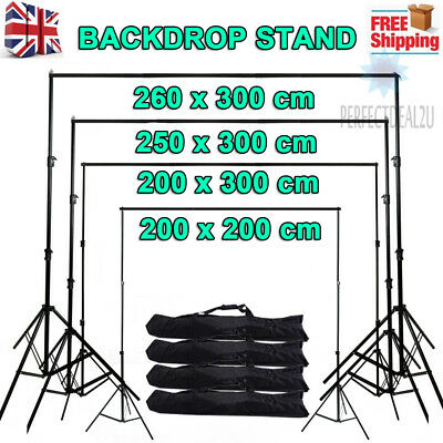Adjustable Photography Background Support Stand Photo Backdrop Crossbar Kit UK