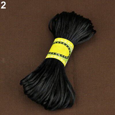 20M 2Mm Rattail Satin Cord Nylon Macrame Braiding String Knitting Rope A Funny