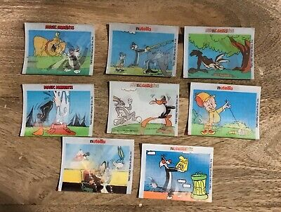 8 Vintage 3D Motion Nutella Cards- 1992 Warner Bros- Collectable