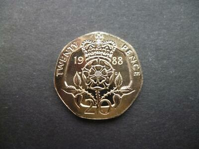 1988 BRILLIANT UNCIRCULATED TWENTY PENCE PIECE. 1988 20p COIN UNCIRCULATED.