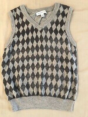 Witchery Kids Fade-Checked Knitted Vest Size 6-7, Excellent Condition