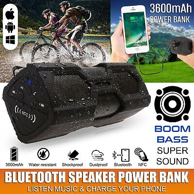 Waterproof Wireless Bluetooth Music Speakers Charge Outdoor Portable Stereo Uf