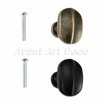 1X Cupboard Kitchen Pull Knob Antique Furniture Oval Single Hole Cabinet Handle