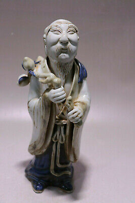 Chinese Blue White Figure Porcelain Figurines & Statues_东方塑