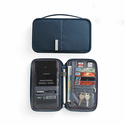 RFIDTravel Wallet Passport Holder  Organiser Pouch for Cards Document ID Aution
