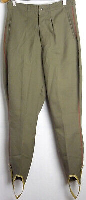 Vintage Soviet Army Officer Daily Galliffet Uniform Pants Galife Trousers USSR