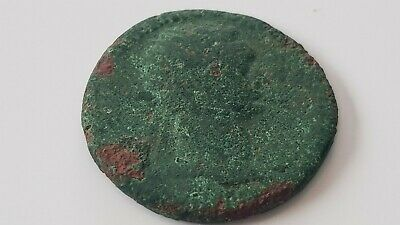 Roman bronze coin of Domitian uncleaned condition, condition as photos. L23h
