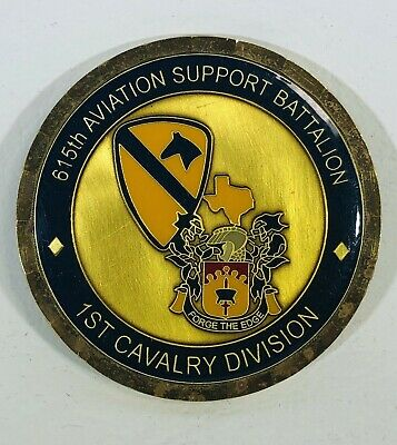 1st Cavalry Div., 615th Aviation Support Bn (ASB) Challenge Coin - Preowned
