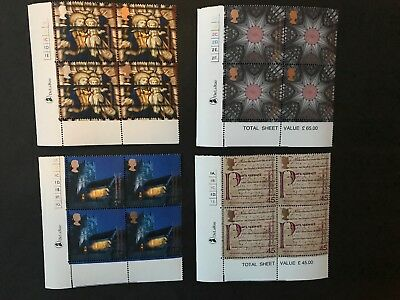 GB. 2000 MILLENNIUM SPIRIT FAITH STAMPS - BLOCKS OF 4 WITH CYL NO's MNH