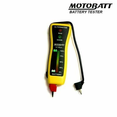 Motobatt Motorcycle Battery Tester Pocket Type 12V Voltmeter