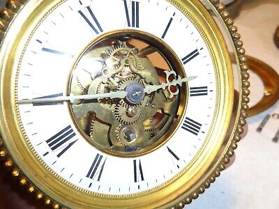 Antique-French Clock Movement-Skeletonized Dial-Ca.1890-To Restore-#T603