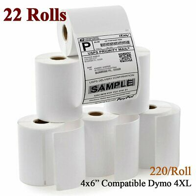 22 Rolls 4x6 Thermal Address Shipping Labels for Dymo 4XL Compatible 1744907