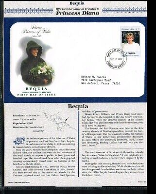 [PB07_07] 1997 - Bequia FDC - Famous People - Royalty - Tribute to Princess Dian