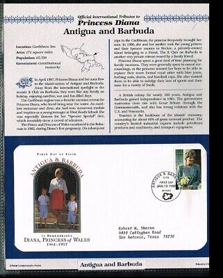 [PB07_28] 1998 - Antigua and Barbuda FDC - Famous People - Royalty - Tribute to