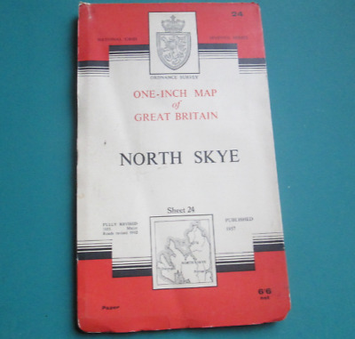 Ordnance Survey One - Inch Map Of North Skye 1957 Map, Number 24.