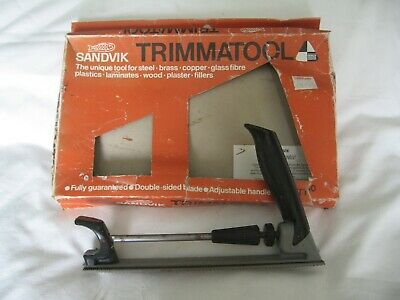 Sandvik Trimmatool Rasp/ Body File Double sided blade Adjustable Handle