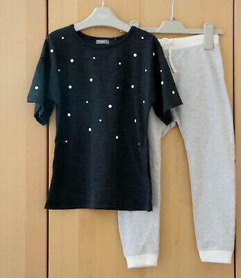 Next Girls Charcoal Grey Top & Bunny Joggers Age  5 Years BNWT