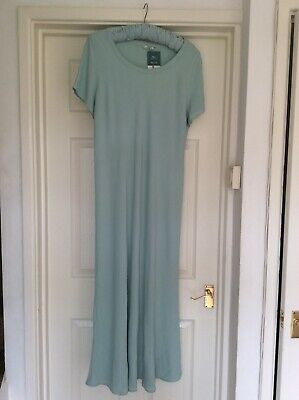Vintage St Michael Mint Green Maxi Dress 16-18