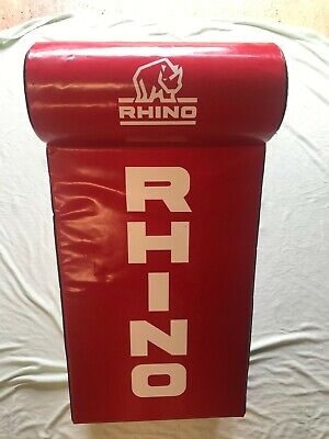 21b8cf39cb6fe0 Rhino Rugby Tackle Bag in Red. Suitable for all players. Fast recovery foam.