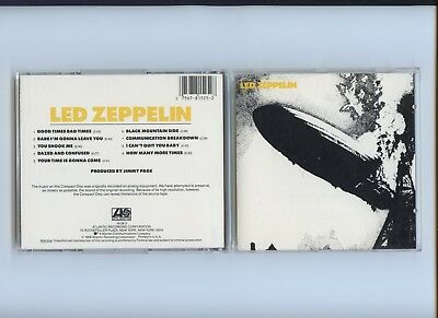 Led Zeppelin 1st Same Selftitled USA Dadc 1985 CD 1st Press 11B4 Matrix