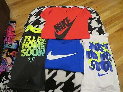 NWT Toddler Boys Lot of 4 Nike & Under Armour Shirts, Size 3T