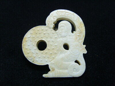 FINELY CARVED  CHINESE Jade Statue/ Pendant   - See Video    n1