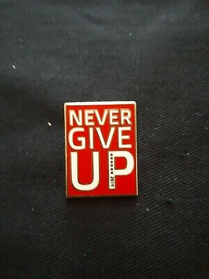 Liverpool FC Never Give Up Pin Badge