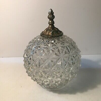Antique clear cut glass shade swag pendant hanging lamp ceiling light fixture