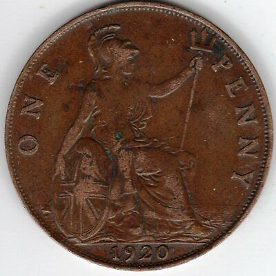 1920 One Penny King George V. Near Very Fine condition. A really nice coin