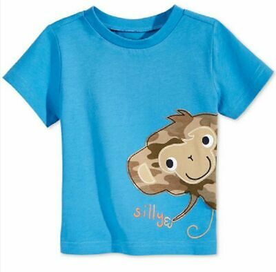 First Impressions Baby Boys' Silly Monkey T-Shirt, Only at Macy's, Blue,Size 12M