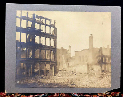 1904 GREAT BALTIMORE FIRE Orig. Rare Late Albumen Photo Print - Maryland History