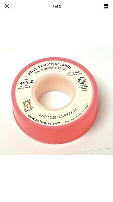"11 Rolls TEFLON PINK PLUMBERS TAPE PTFE 1/2"" X 260"" HIGH DENSITY THREAD SEALANT"