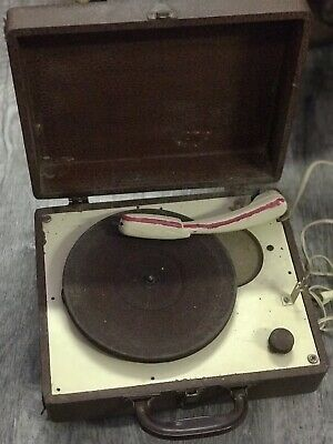 vintage astatic record player - as is - power works, table turns, needs  needle