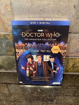 DOCTOR WHO THE ANIMATION COLLECTION DVD + Digital 2 Disc Set 2019 BBC New