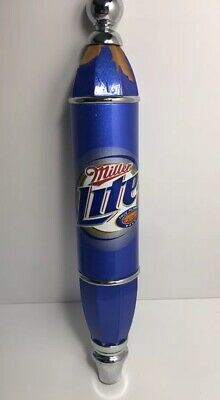 *Vintage Worn*Miller Lite Beer Tap Handle*Light Beer*Tap Marker*Kegerator*Wood*