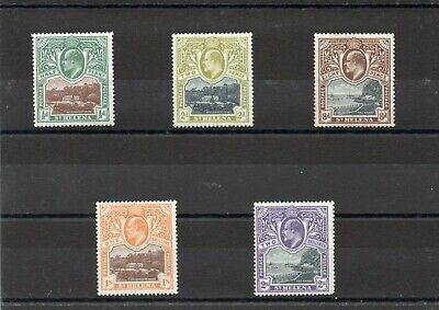 St Helena ED VII 1903 SG 55-60 set less the 1d Cat £108 lightly mounted mint.