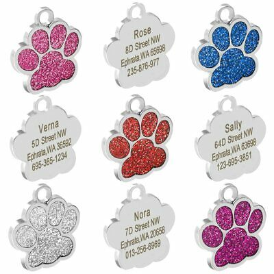 Personalized Dog Tags Engraved Cat Puppy Pet ID Name Collar Tag Pendant Pet