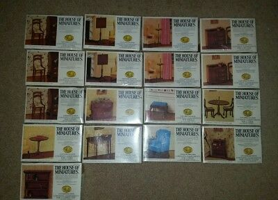 Lot of 21 - House of Miniatures - Dollhouse Kits
