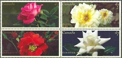 2001 Canada #1910a-d Mint Never Hinged Block of 4 Roses from Souvenir Sheet
