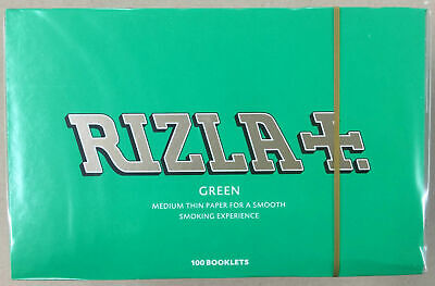Rizla Regular  Green Smoking  Cigarette Rolling Papers  A Box of 100 Booklets