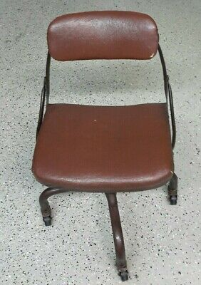 Vintage Domore Swivel Industrial Desk Chair Rustic Decor 1940s Local Pickup Only