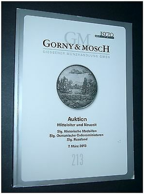 Gorny & Mosch March 2013 #213 Coins Medals Russia Germany Hungary Islam Dutch