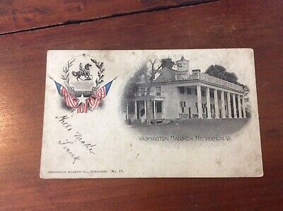 Postcard Private Mailing Card Washington Mansion Mount Vernon Virginia Used