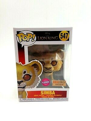 Funko Pop Disney The Lion King Flocked Simba BoxLunch Exclusive #547 Live Action