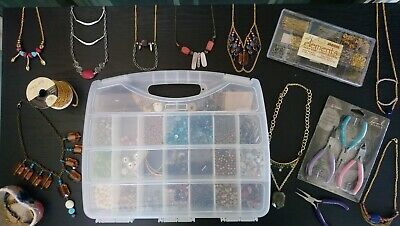 Jewelry Making Kit Supplies Accessories Crafts Tools Beads Pliers Wires