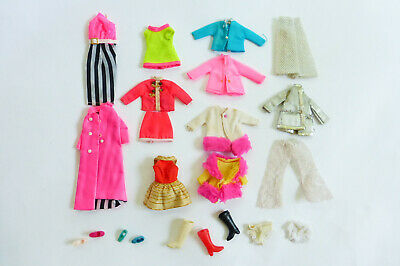 Lot of Vintage Dawn Doll Clothing & Accessories MOD Neon 1970s