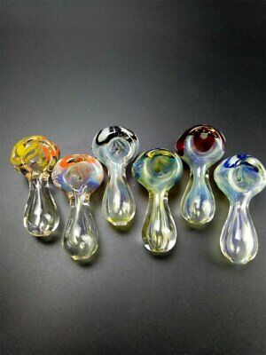 Glass Hand Smoking Bowl Pipes Mini Pattern Collectible Tobacco Pipe