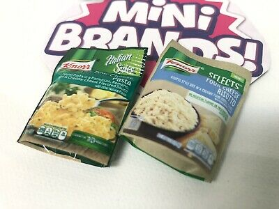 Zuru Mini Brands Knorr Four Cheese Pasta And Risotto Side Package Miniature Set