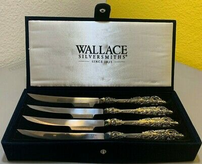Wallace Silversmiths Silver-Plated Antique Baroque Steak Knife Set W6222909